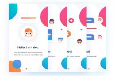 一套非常漂亮的医疗类的APP引导页界面设计欣赏