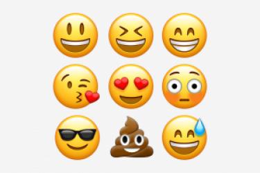 一套Emoji表情符号大全以及Emoji表情PSD素材下载
