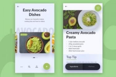 更美APP设计系列:美食APP与果蔬APP UI设计欣赏