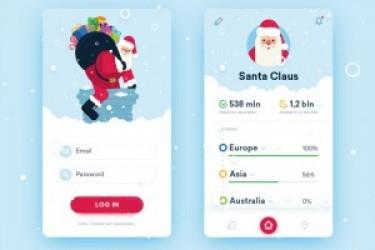 圣诞主题的Christmas UI设计,设计师玩出了新花样