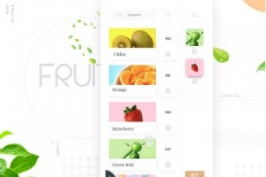 值得学习的App交互方式—在线选购生鲜水果APP解析