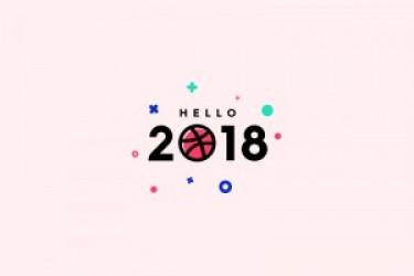 2018设计壁纸欣赏,学堂君祝大家happy new year