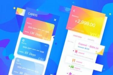 手机APP欣赏课堂:一组清爽的APP钱包页面设计