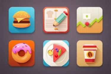 让你垂涎欲滴的食品类APP Icon图标UI设计欣赏