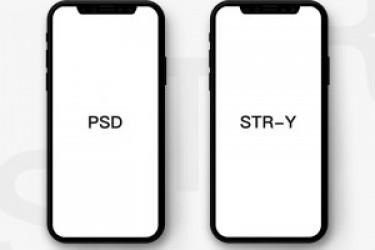 iPhone X PSD模板下载——扁平化的APP贴图展示素材