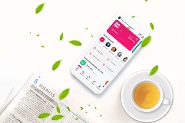 手机app钱包页面设计模板