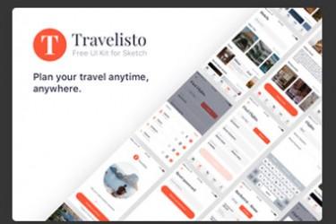 app078 在线旅游预订Sketch APP模板