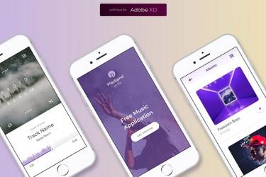 app089 XD格式的音乐模板UI素材