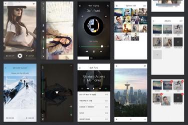 app013 多媒体社交APP设计模板