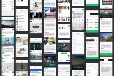 app014 交友社交APP设计模板