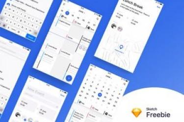 共享日历的app设计模版