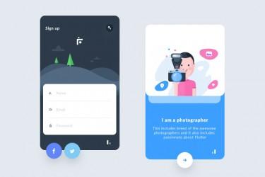 5个好看的app登录页面设计灵感