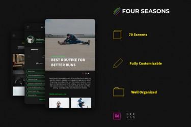 运动健身类安卓app界面设计模板