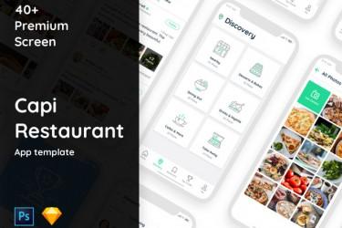 iOS 11 美食app界面设计模板