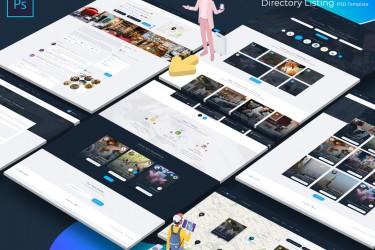 城市生活服务类网站界面设计模板