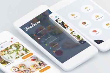 国外美食app界面设计模板