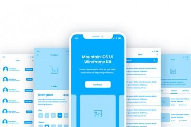 一套完整多类别的iOS UI 线框图模板