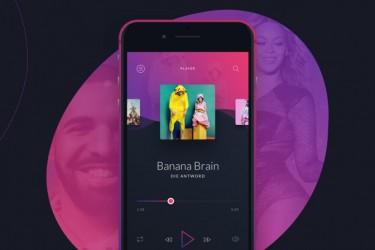 深色炫酷音乐app界面设计模板 (sketch)