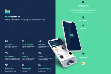 美丽的电商app界面设计模板