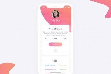 ui灵感:个人主页app设计欣赏