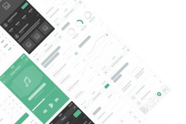 UX原型设计的线框流程图套件