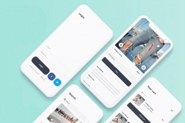 现代时尚的品牌电商app界面设计模板(sketch)