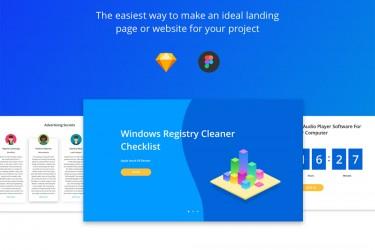白色简洁的网站界面设计模板