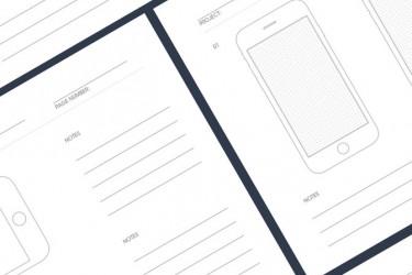 可打印的UX设计师专用的设备线框图