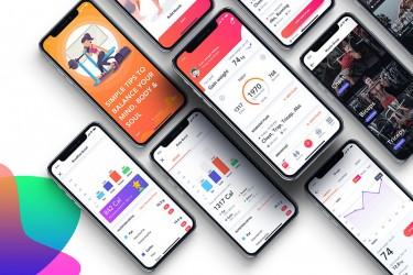健康与健身类app界面设计模板