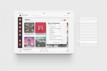 平板专用音乐app界面设计模板