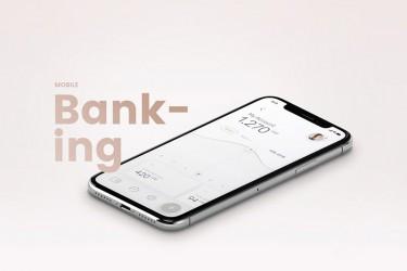 一套优雅的手机银行app设计模板(psd)