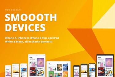 色彩背景的苹果设备mockup