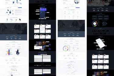 区块链网站的着陆页面设计模板
