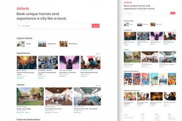airbnb网页版着陆页ui素材