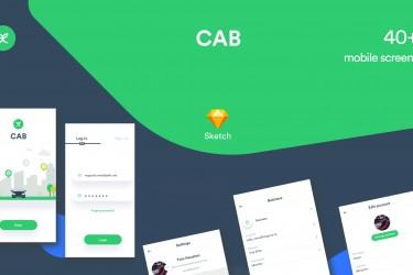 国外专车app界面设计模板