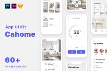 智能家居手机app界面设计素材模板