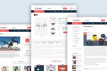 无人机电商网站设计模板