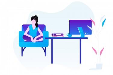 在线课程用途的插画素材3
