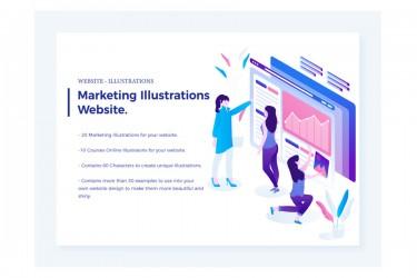 营销用途图表人物插画(20个打包)