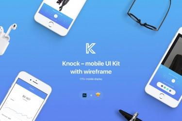 移动app界面和线框图设计的UI Kit