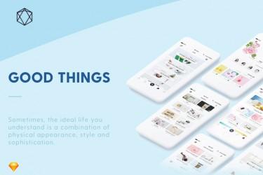 富有创意的电商app界面设计素材