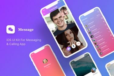 社交聊天app界面设计模板