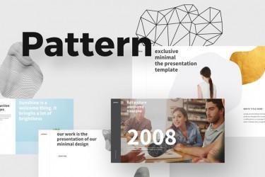 可用于设计方案汇报的ppt模板-Pattern
