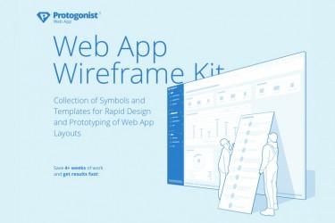 网站后台原型设计的线框图素材