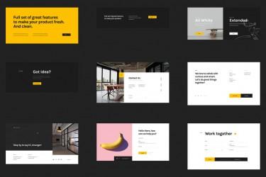 现代极简设计的网站ui模板
