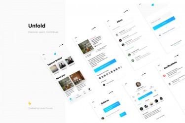 活动社交app界面设计模板-Unfold UI Kit