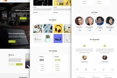 10款着陆页&邮件设计模板