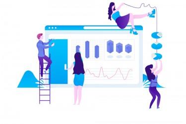营销用途图表人物插画1