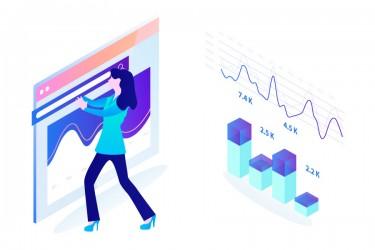 营销用途图表人物插画13