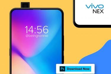 免费的PSD格式Vivo Nex样机